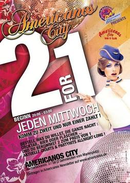 This picture shows the flyer for the event 2for1 - Party