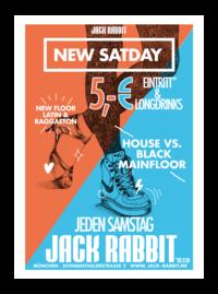 Dieses Bild zeigt den Flyer des Events New Satday