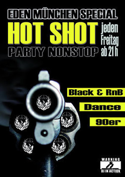 This picture shows the flyer for the event Hot Shot
