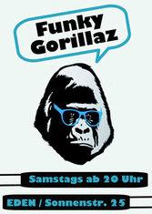 Dieses Bild zeigt den Flyer des Events Funky Gorillaz