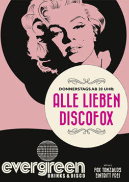 This picture shows the flyer for the event ALLE LIEBEN DISCOFOX