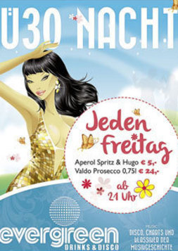 This picture shows the flyer for the event Ü30 Nacht