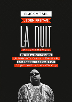 Dieses Bild zeigt den Flyer des Events Der Freitag im La Nuit