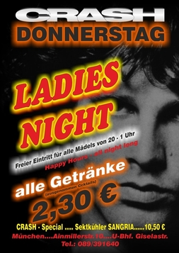 Dieses Bild zeigt den Flyer des Events Ladies Night