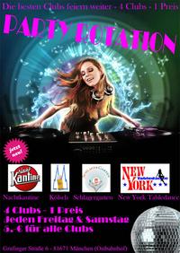 Dieses Bild zeigt den Flyer des Events PARTY ROTATION