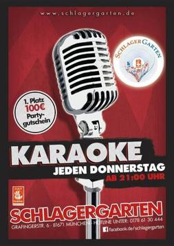 This picture shows the flyer for the event Karaoke
