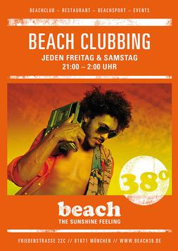 Dieses Bild zeigt den Flyer des Events BEACH CLUBBING AT BEACH38°