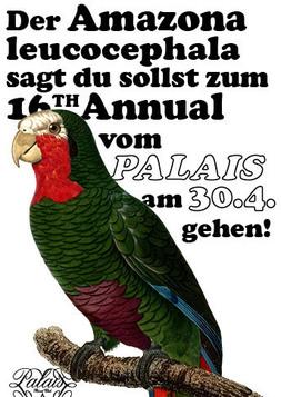 Dieses Bild zeigt den Flyer des Events PALAIS 16th ANNUAL