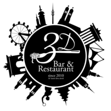 This picture shows the logo of the location 3D Restaurant & Bar