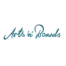 This picture shows the logo of the location Arts 'n' Boards