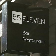 This picture shows the logo of the location 55Eleven
